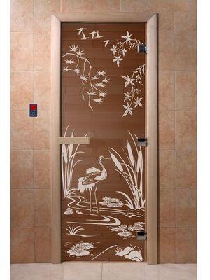 """Дверь для бани """"Камышовый рай бронза"""" - DoorWood"""