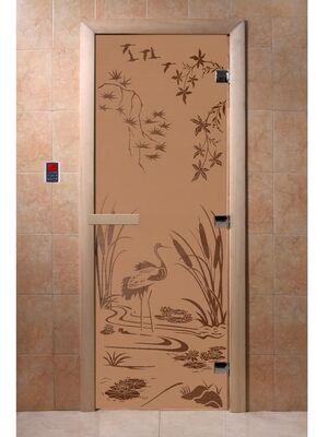 """Дверь для бани """"Камышовый рай бронза матовая"""" - DoorWood"""
