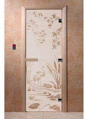 """Дверь для бани """"Камышовый рай сатин"""" - DoorWood"""