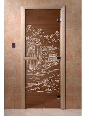 """Дверь для бани """"Китай бронза"""" - DoorWood"""