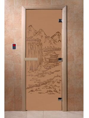 """Дверь для бани """"Китай бронза матовая"""" - DoorWood"""