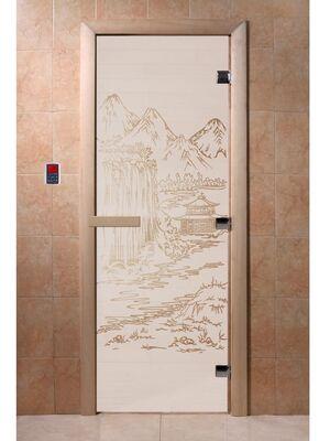 """Дверь для бани """"Китай сатин"""" - DoorWood"""