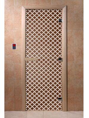 """Дверь для бани """"Мираж бронза"""" - DoorWood"""