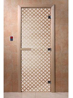"""Дверь для бани """"Мираж сатин"""" - DoorWood"""