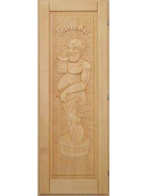 """Дверь для бани """"Дед"""" кавказская липа (1900*700) - Doorwood"""