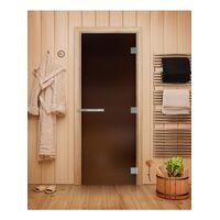 Дверь для бани Эталон Бронза Матовая - DoorWood