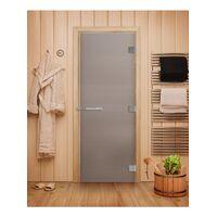 Дверь для бани Эталон Сатин - DoorWood