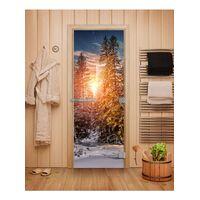 Дверь для бани Эталон с фотопечатью - DoorWood