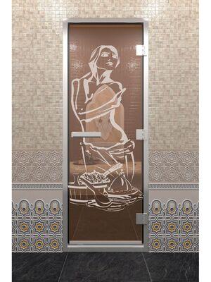 """Дверь """"Хамам Искушение"""" бронза"""
