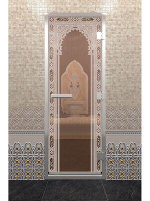 "Дверь ""Хамам восточная арка"" бронза"