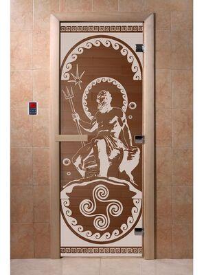"""Дверь для бани """"Посейдон бронза"""" - DoorWood"""