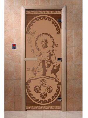 """Дверь для бани """"Посейдон бронза матовая"""" - DoorWood"""