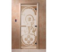 "Дверь для бани ""Посейдон сатин"" - DoorWood"