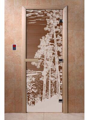"""Дверь для бани """"Рассвет бронза"""" - DoorWood"""