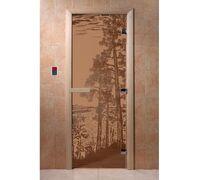 """Дверь для бани """"Рассвет бронза матовая"""" - DoorWood"""