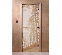 """Дверь для бани """"Рассвет сатин"""" - DoorWood"""