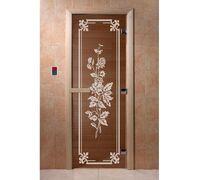 """Дверь для бани """"Розы бронза"""" - DoorWood"""