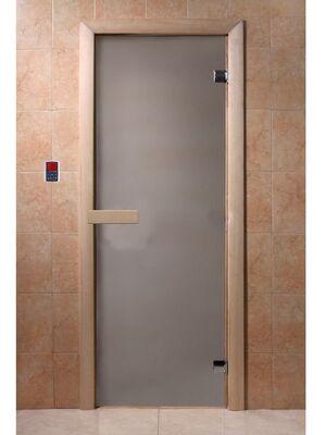 """Дверь для бани """"Сатин"""", 1900*700, стекло 6мм, 2 петли - DoorWood"""