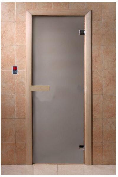 """Дверь для бани и сауны """"Сатин"""" 1900*700, 6мм, 2 петли"""