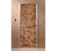 """Дверь для бани """"Венеция бронза матовая"""" Ольха - DoorWood"""