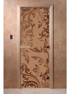 """Дверь для бани """"Венеция бронза матовая"""" - DoorWood"""