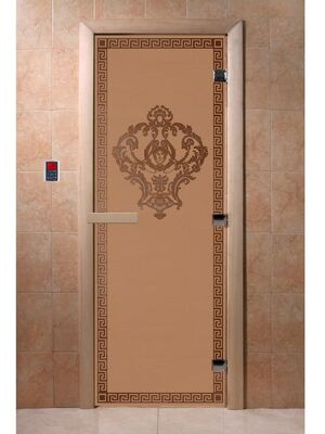 """Дверь для бани """"Версаче бронза матовая"""" - DoorWood"""