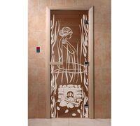 """Дверь для бани """"Волшебный пар бронза"""" - DoorWood"""