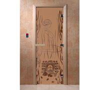 """Дверь для бани """"Волшебный пар бронза матовая"""" Ольха - DoorWood"""
