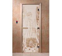 """Дверь для бани """"Волшебный пар сатин"""" - DoorWood"""
