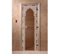 """Дверь для бани """"Восточная арка бронза"""" - DoorWood"""