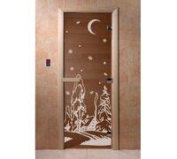"""Дверь для бани """"Зима бронза"""" - DoorWood"""