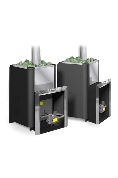 Газовая банная печь Уралочка 16 с автоматикой