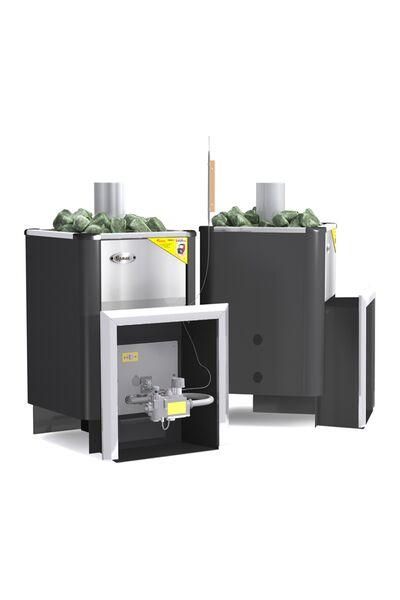 Газовая банная печь Уралочка 20 с автоматикой