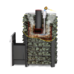 Дровяная печь для бани Ермак 12 СЕТКА-ПРЕМИУМ (Сталь)