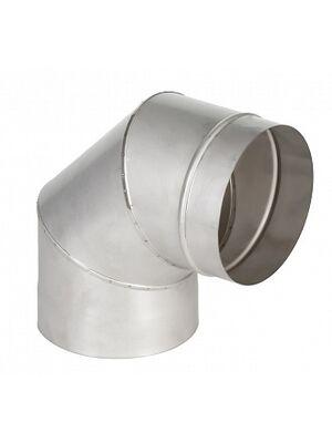 Отвод 90° одностенного дымохода  - Феникс
