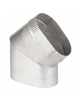 Отвод 45° сапог овального дымохода  - Феникс