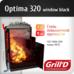 Печь для бани Optima 320 (Window black) Grill'd