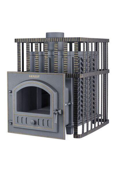 Чугунная печь для бани Гефест ПБ-02 МС ЗК (с закрытой каменкой)