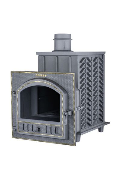 Чугунная печь для бани Гефест ПБ-03 П ЗК (с закрытой каменкой)