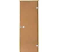 *Дверь Harvia STG 9*19 коробка ольха, стекло бронза