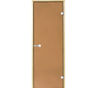 *Дверь Harvia STG 9*19 коробка сосна, стекло бронза