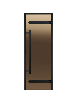 Дверь Harvia Legend STG 8*21 коробка сосна, стекло бронза