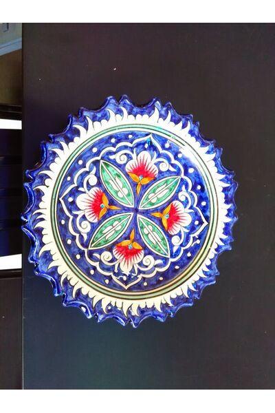 Конфетница с рифлеными краями (синяя)