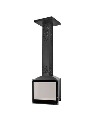 Камин LCI 5 GF BG Sky, черное стекло (Liseo Castiron)