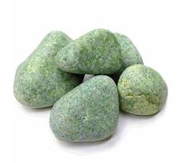 Камни для бани Жадеит обвалованный (ведро 10 кг)
