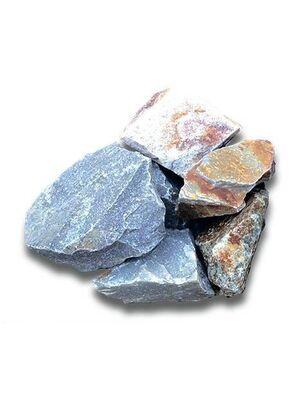 Камни для бани Кварцит колотый (коробка 20 кг)