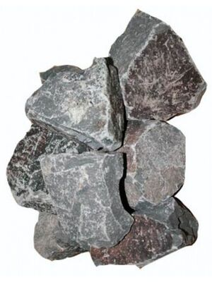 Камни для бани Порфирит колотый (коробка 20кг)
