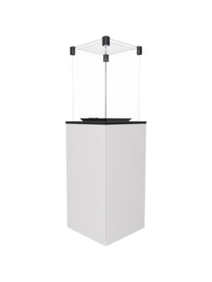 Газовый обогреватель Kratki PATIO/G31/37MBAR/B (уличный) - белое стекло, с пультом ДУ