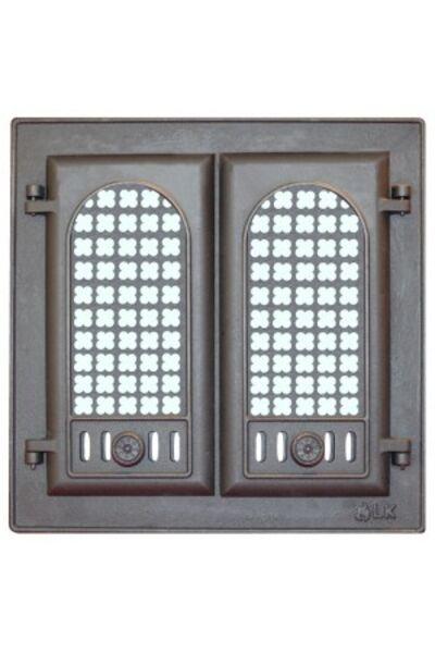 Дверца каминная с решеткой LK 302