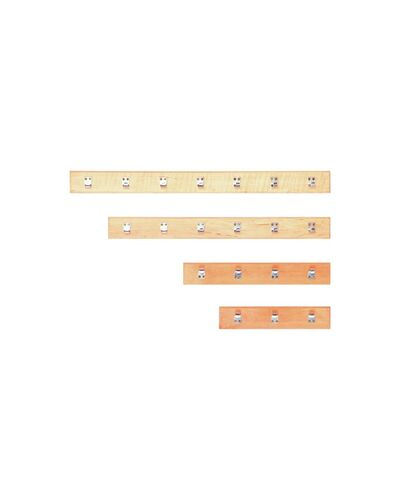 Вешалка прямая 4 крючка (Ольха), арт. ВК-4 - LK